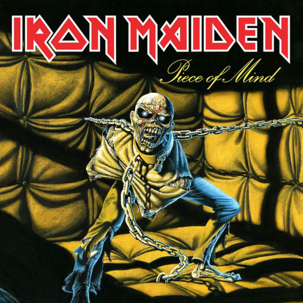 Piece Of Mind by IRON MAIDEN album cover