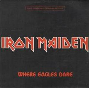 Iron Maiden 	Where Eagles Dare promo album cover