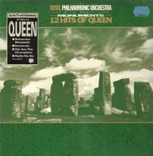Various Artists (Tributes) Royal Philharmonic orchestra and Great Empire plays Monuments: 12 Hits Of Queen album cover