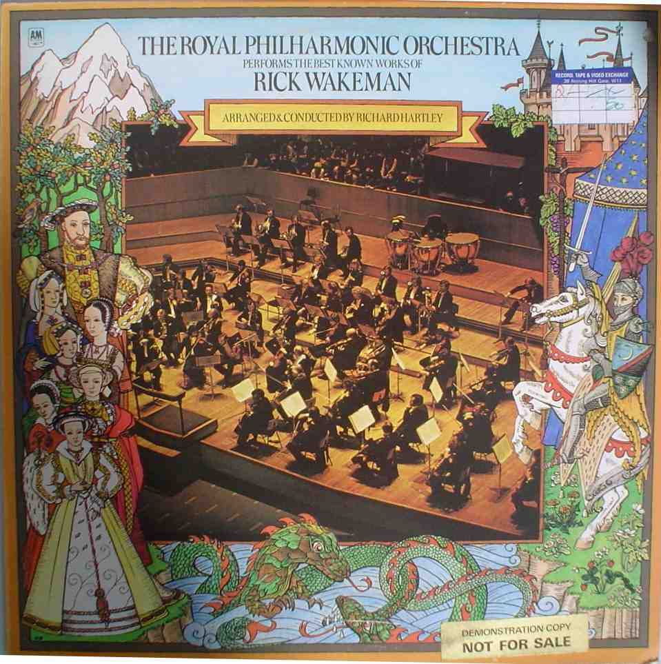 Various Artists (Tributes) The Royal Philharmonic Orchestra performs the best known works of Rick Wakeman album cover