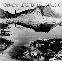 Formen Letzter Hausmusik by TIETCHENS, ASMUS album cover