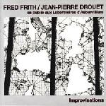 Fred Frith En Public Aux Laboratoires D'Aubervilliers Improvisations (with Jean-Pierre Drouet ) album cover