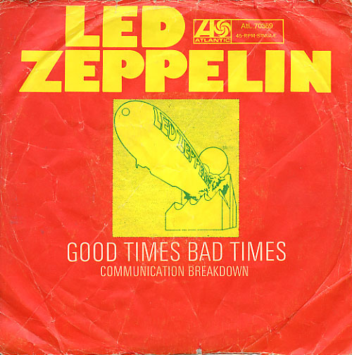 Led Zeppelin Good Times Bad Times album cover