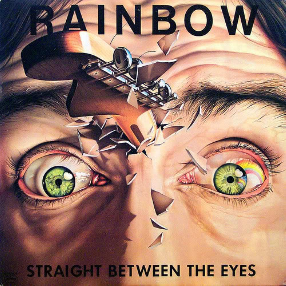 Straight Between The Eyes by RAINBOW album cover