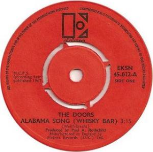 The Doors Alabama Song (Whiskey Bar) album cover