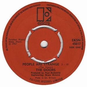 The Doors People Are Strange album cover