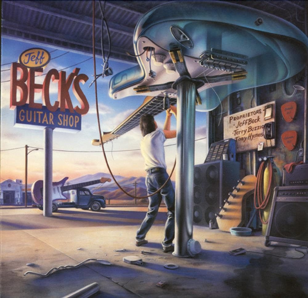 Jeff Beck, Terry Bozzio & Tony Hymas: Jeff Beck's Guitar Shop by BECK, JEFF album cover