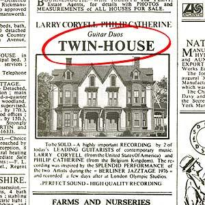 Larry Coryell - Larry Coryel & Philip Catherine: Twin-House CD (album) cover