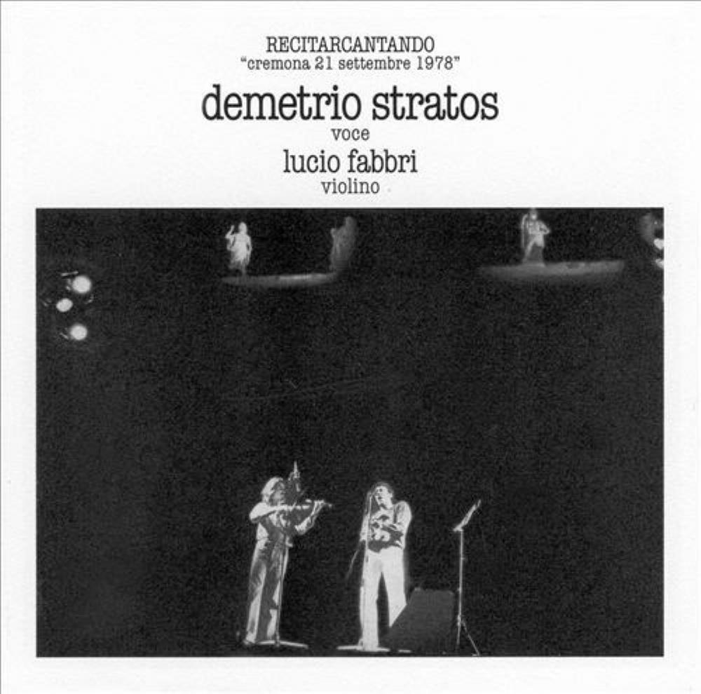 Recitarcantando (with Lucio Fabbri) by STRATOS, DEMETRIO album cover
