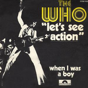 Let's See Action / When I Was A Boy by WHO, THE album cover