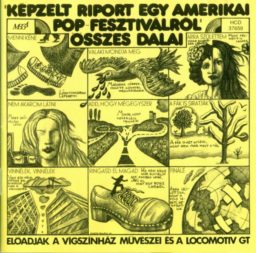 Képzelt Riport Egy Amerikai Pop-Fesztiválról (OST) by LOCOMOTIV GT album cover
