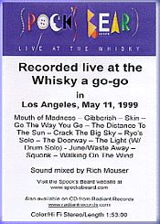 Spock's Beard - Live At The Whiskey A Go-Go CD (album) cover