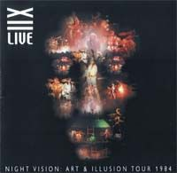 Twelfth Night Night Vision: Art & Illusion Tour 1984 album cover