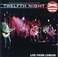 Live from London by TWELFTH NIGHT album cover