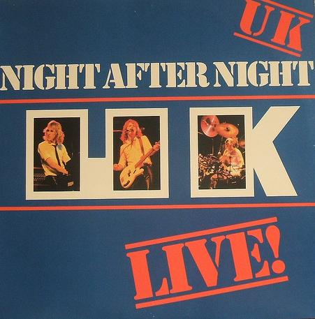UK - Night After Night  CD (album) cover