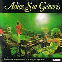 Adiós Sui Generis by SUI GENERIS album cover