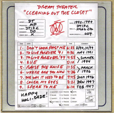 Dream Theater - Cleaning Out The Closet CD (album) cover