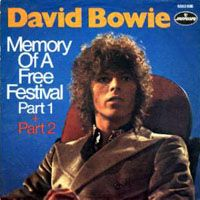 David Bowie Memory Of A Free Festival album cover