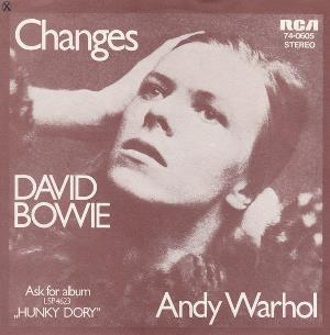 David Bowie - Changes / Andy Warhol CD (album) cover