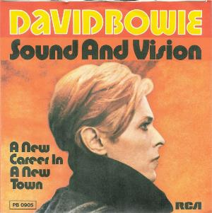 David Bowie Sound and Vision / A New Career in a New Town album cover