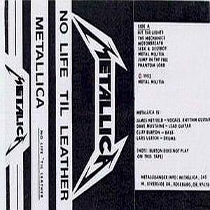 Metallica No Life 'til Leather demo album cover