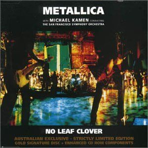Metallica No Leaf Clover album cover