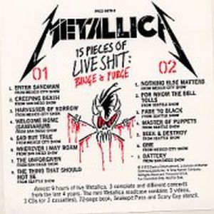 Metallica 15 Pieces Of Live Shit promo album cover