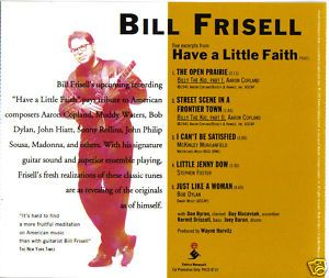 Bill Frisell - Five Excerpts From Have a Little Faith CD (album) cover