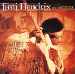 Jimi Hendrix Live at Woodstock album cover