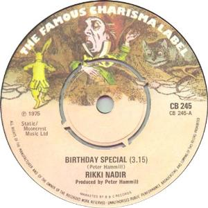 Birthday Special / Shingle Song by HAMMILL, PETER album cover