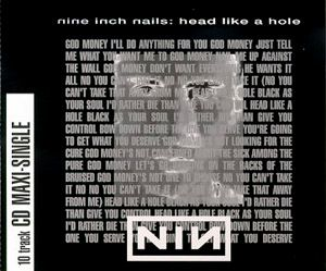 Nine Inch Nails Head Like a Hole album cover