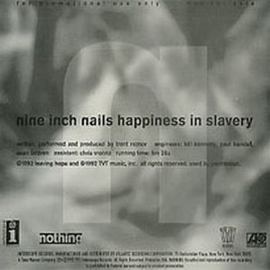 Nine Inch Nails Happiness in Slavery album cover