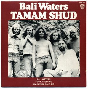 Tamam Shud - Bali Waters CD (album) cover