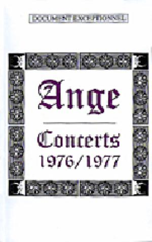 Ange Concerts 1976/1977 album cover
