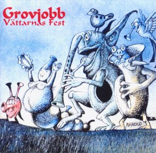 Grovjobb - V�ttarnas fest CD (album) cover