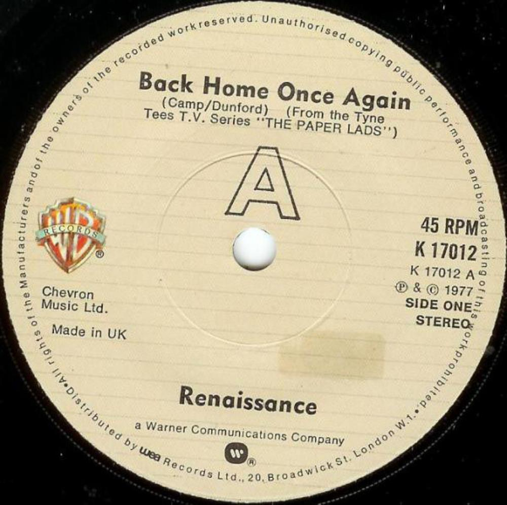 Back Home Once Again by RENAISSANCE album cover