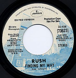 Rush Finding My Way album cover