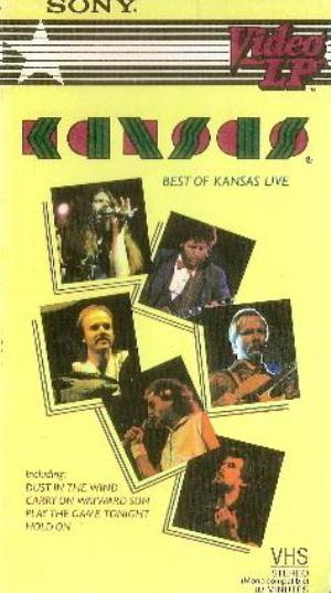Kansas Best Of Kansas Live (VHS) (aka Live Confessions DVD) album cover