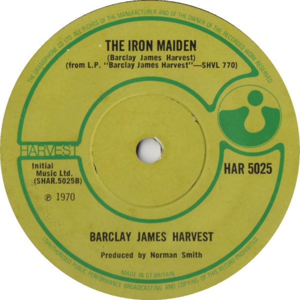 Taking Some Time On / The Iron Maiden by BARCLAY JAMES  HARVEST album cover