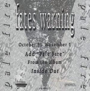 Fates Warning Pale Fire album cover