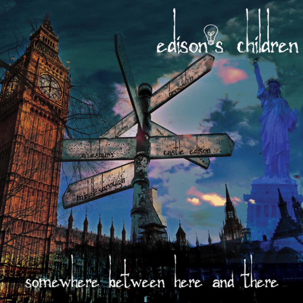 Somewhere Between Here And There... by EDISON'S CHILDREN album cover