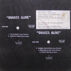 Snakes Alive Snakes Alive album cover