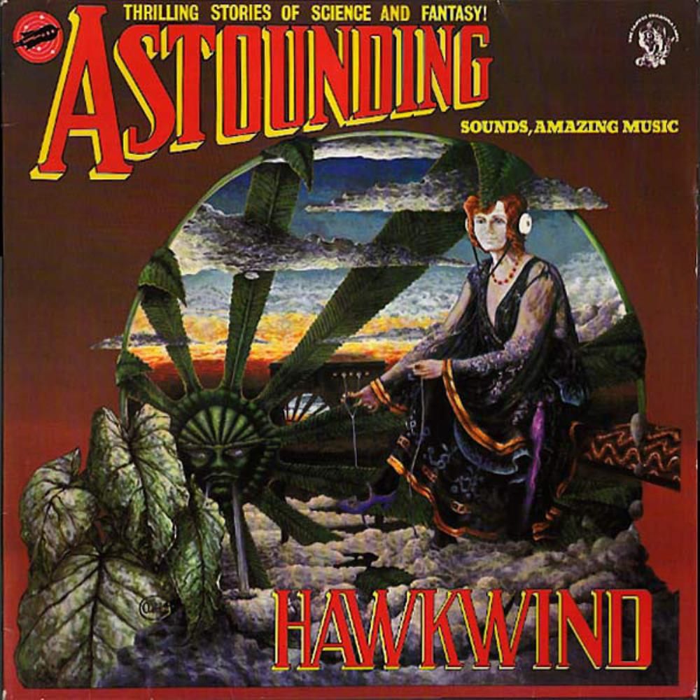 Astounding Sounds, Amazing Music by HAWKWIND album cover