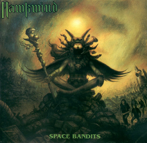 Space Bandits  by HAWKWIND album cover