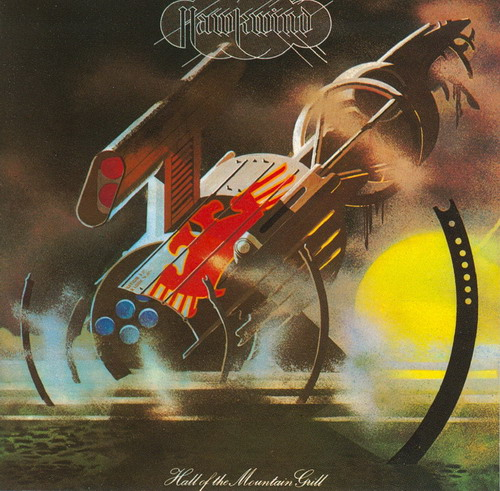 Hall of the Mountain Grill by HAWKWIND album cover