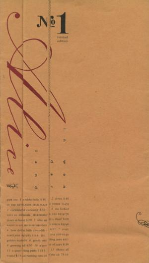 Alice In Wonderland No. 1  by GREIF, RANDY album cover