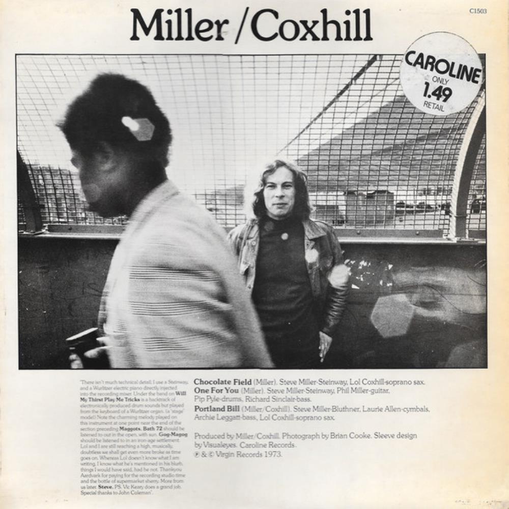 Coxhill/Miller Miller/Coxhill by MILLER & COXHILL album cover