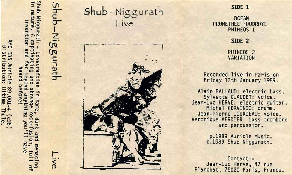 Shub-Niggurath - Live CD (album) cover