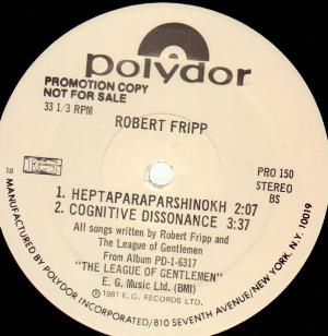 Robert Fripp The League Of Gentlemen (Sampler) album cover