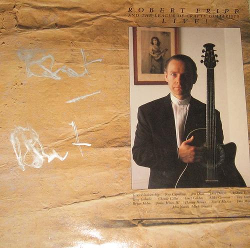Robert Fripp - Robert Fripp & The League of Crafty Guitarists - Live! CD (album) cover